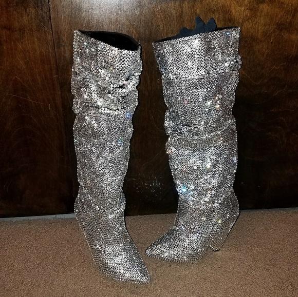 d7afaf38eb3 Shoes | Swarovski Crystals Rhinestone Boots | Poshmark